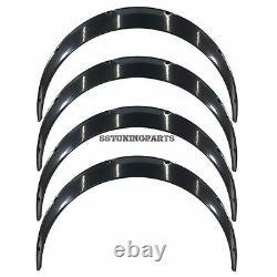 100mm Wide Universal Fender Flares Wheel Arch Extension Arches Trims JDM Set RUM