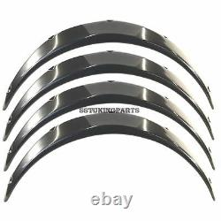 55mm Wide Universal Fender Flares Wheel Arch Extension Arches Trims JDM Set GGS