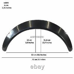 60mm Wide Universal Fender Flares Wheel Arch Extension Arches Trims JDM Set GS