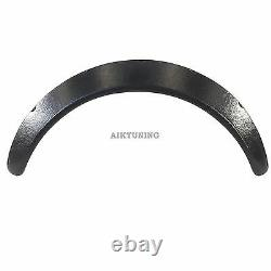 60mm Wide Universal Fender Flares Wheel Arch Extension Arches Trims JDM Set RS