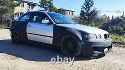 BMW 3 E46 Compact Overfenders WIDE BODY FENDER FLARES BODY KIT DRIFT / DAILY