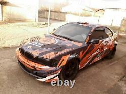 BMW 3 E46 Coupe M Sport Wide Body Drift Daily Body Kit 10 pcs. Facelift PRIMED
