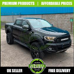 Black Wide Body Wheel Arch Arches & Door Cladding To Fit Ford Ranger T7 2015+
