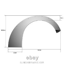 Clinched Fender Flares Sliders Universal Wide body Kit