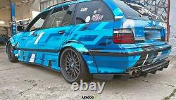 Fender flares for BMW e36 CONCAVE wide body JDM wheel arches ABS 70mm 4pcs