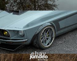Fender flares for Ford Mustang 1965-1973 wide body kit wheel arch 50+90 4pcs set