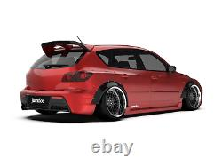 Fender flares for Mazda 3 CONCAVE Mazdaspeed3 wide body wheel arches 70mm 4pcs