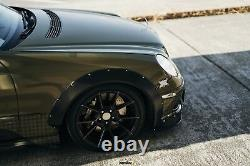 Fender flares for Mercedes W211 CONCAVE wide body wheel arches 1.5 40mm 4pcs