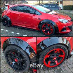 Fender flares for Opel Astra J CONCAVE wide body wheel arch Vauxhall 2.75 4pcs