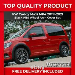 Fits Vw Caddy Maxi Mk4 1521 Left Sliding Door Black Wide Body Wheel Arch Cover