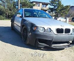 For BMW 3 E46 Compact Front Overfenders Wide Body Drift Daily Body Kit 2 pcs