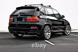 For BMW E70 X5 07-13 Wide AERO Fender Flares ABS Wheel Flares Trim Spoiler