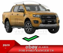 For FORD RANGER 2019 T8 WILDTRACK WIDE BODY FENDER FLARES ARCHES PARK ASSIST