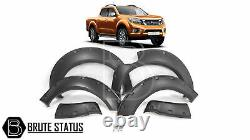 For Nissan Navara NP300 2015+ Wide Body Wheel Arches Fender Flares Riveted Style