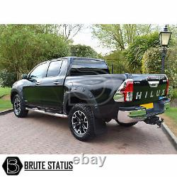 For Toyota Hilux 2016-19 Wide Body Wheel Arches Fender Flares Riveted Style