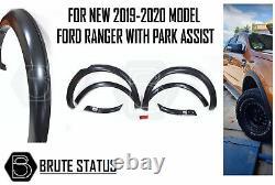 Ford Ranger 2019-2020 Wide Body Wheel Arches Fender Flares T8 Slim Park Assist