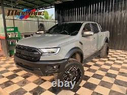 Ford Ranger Raptor Style Body Kit 2 Grille Bumper, Wide Wheel Arches 2016-2019
