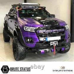 Ford Ranger T7 Wide Body Wheel Arches 2016-19 Fender Flares (Overland Extreme)