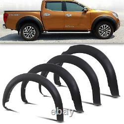Front Rear Wide Body Wheel Arch Fender Flare Set For Nissan Navara D40 08-12