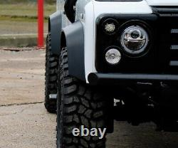 Full Set of 30mm extra wide Black Wheel Arch Kit Fits Land Rover Defender 90/110