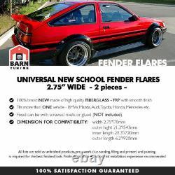 JDM Fender Flares Universal NEW School Wheel arch SET 2.7 wide 70MM