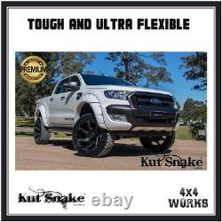 Kut Snake Wheel Arches Fender Flares for Ford Ranger 2011-on Monster Wide Smooth