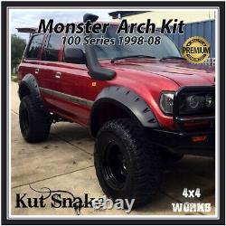 Kut Snake Wheel Arches Fender Flares for Land Cruiser 100 Amazon Monster Wide