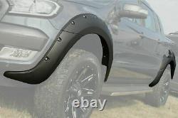 Matte Black Raptor Look Wide Arch Kit Fits Ford Ranger T7 2016-2019