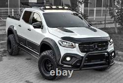 Mercedes X-Class Pickup Wide Wheel Arch kit With Bolt Hole Look Matte Black