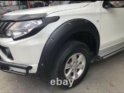 Mitsubishi L200 2015-2019 Wide Wheel Arch Kit Bolt Look Matt Black Series 5