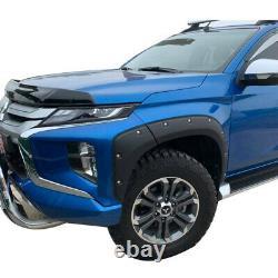 Mitsubishi L200 Series 6 2019 2020 2021 Wide Wheel Arch Kit Matt Black Bolt Look