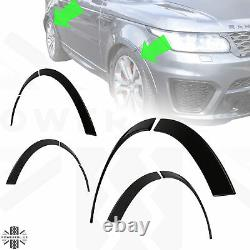 Painted Black SVR Style wheel arch spat for RangeRover Sport L494 wide extention