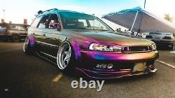 Universal JDM Fender Flares CONCAVE over wide body wheel arches ABS 90mm 2pcs