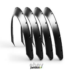 Universal JDM Fender flares CONCAVE over wide body wheel arches ABS 1.5 4pcs