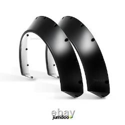 Universal JDM Fender flares CONCAVE over wide body wheel arches ABS 4.3 2pcs