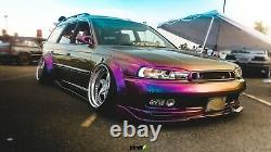 Universal JDM Fender flares CONCAVE over wide body wheel arches ABS 70mm 4pcs