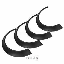 Universal JDM Fender flares CONCAVE over wide body wheel arches ABS 90mm 4pcs