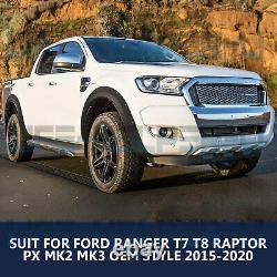 Wide Arch Kit Fender Flares/Wheel Arch for Ford Ranger T7 T8 Raptor 2015-2020