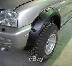Wide fender flares wheel arches for MITSUBISHI L200 19962005 2-door K74