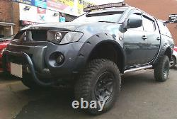 Wide fender flares wheel arches for MITSUBISHI L200 2005-2010 4-DOOR