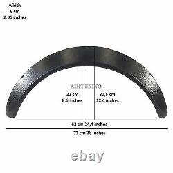 60mm Large Universal Fender Flares Roue Arche Extension Arches Trims Jdm Set Rs