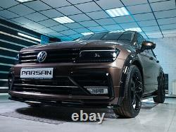 Arcs De Roue Parsan, Large, Fender, Flares Pour Volkswagen Tiguan R-line Mk2