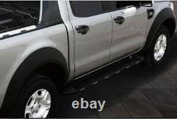 Convient Ford Ranger T6 2011-2015 Arche De Roue Large Kit Finition Lisse Look Noir Mat