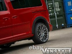 Convient Vw Caddy Maxi Mk4 1521 Porte Coulissante Gauche Noir Large Couverture De Roue Du Corps
