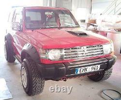Escarpins À Ailes Larges Arcs De Roue Pour Mitsubishi Pajero (montero) 2-door Mk2