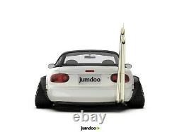 Fender Flares Pour Mazda Mx-5 Miata Kit Corps Large Jdm Arc De Roue 120mm 4pcs Ensemble