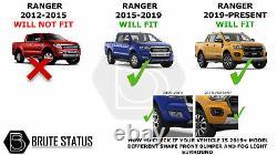 Ford Ranger 2019-2020 Arches De Roue Large Et Espaceurs De Roue (fender Flares T8)