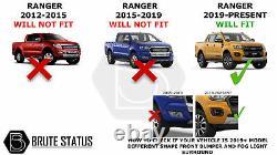 Ford Ranger 2019-2020 Wide Body Wheel Arches Fender Flares T8 Dernier Modèle
