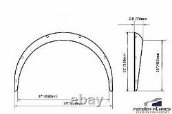 Fusées Fender Universal Jdm Concave Large Passages De Roue Du Corps Abs Noir 70mm 4pcs