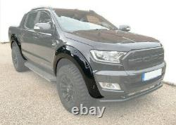 Gloss Black Raptor Look Wide Arch Kit S'adapte À Ford Ranger T8 2019- À Partir De